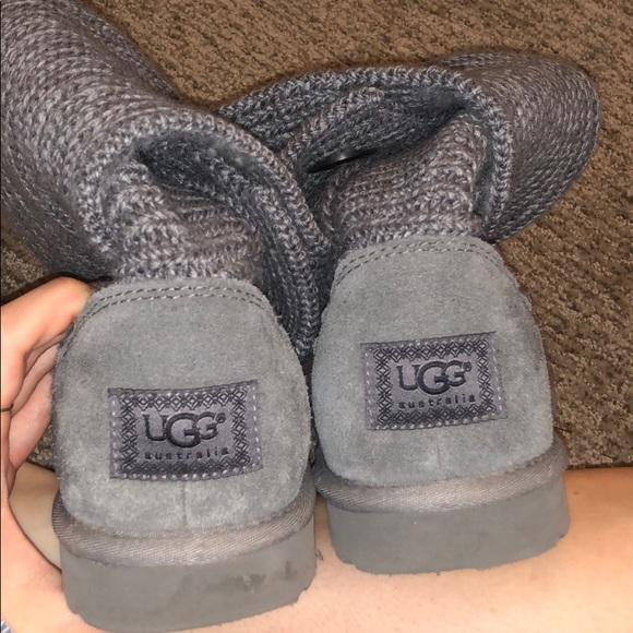 Shoes Boots Poshmark Ugg Grey Knit Zqv88d